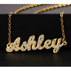 Silver name necklace with...