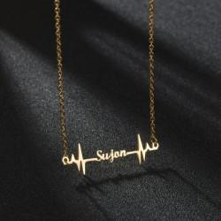 Herzschlag Name Halskette...
