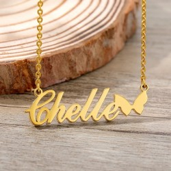 Butterfly name necklace...