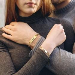 2 pulseras gemelas con...