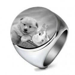 Personalized photo ring for...