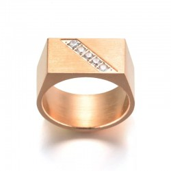 Splendid engraved text ring...