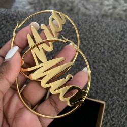 Creole name earrings...